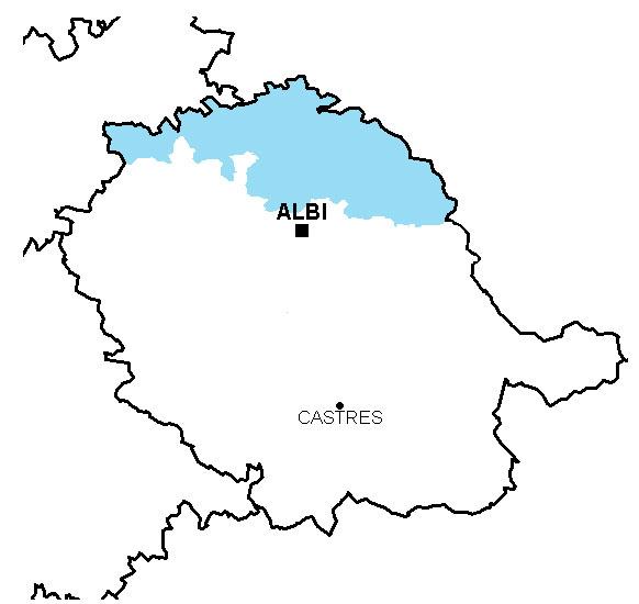 Carte du scot, vue du Tarn