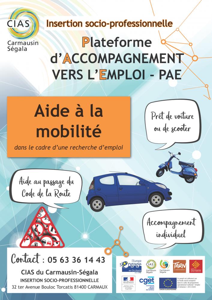 Affiche CIAS PAE aide à la mobilité