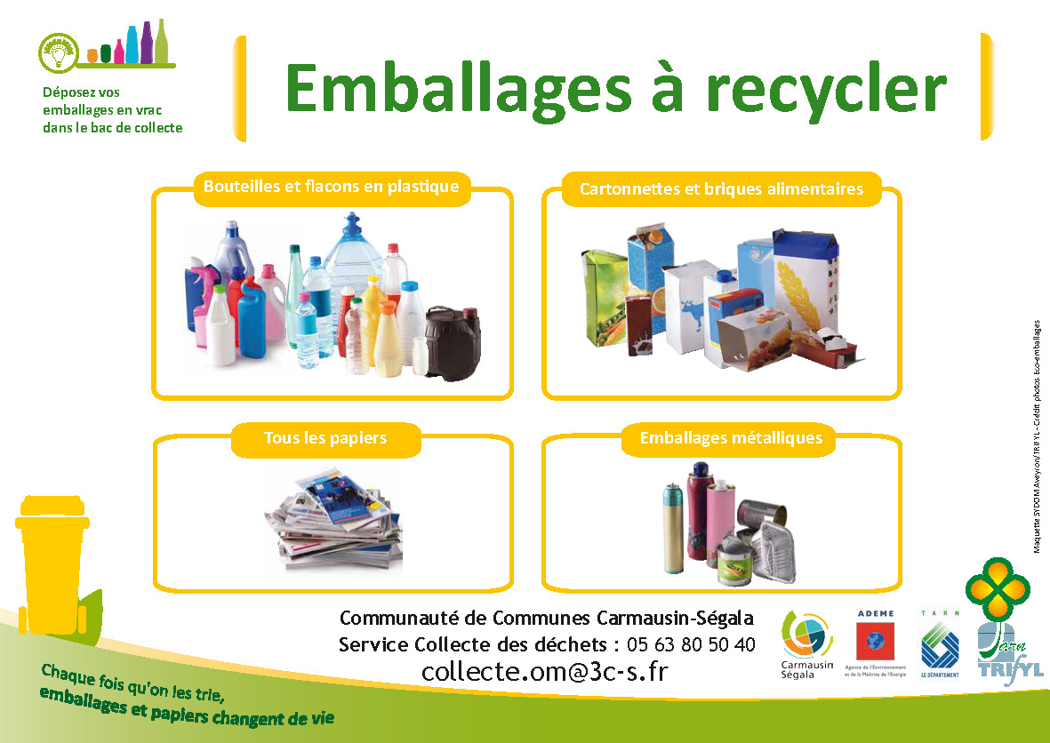 Emballages à recycler