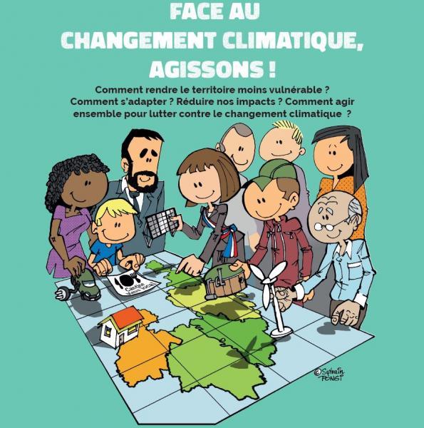 Affiche - Face au changement climatique, agissons !