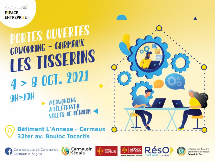Portes ouvertes à l'Espace Entreprises les Tisserins du 4 au 8 octobre 2021
