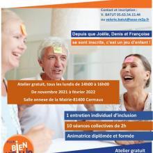 Affiche ateliers mémoire pour les seniors