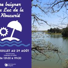 Baignade au lac de la Roucarié