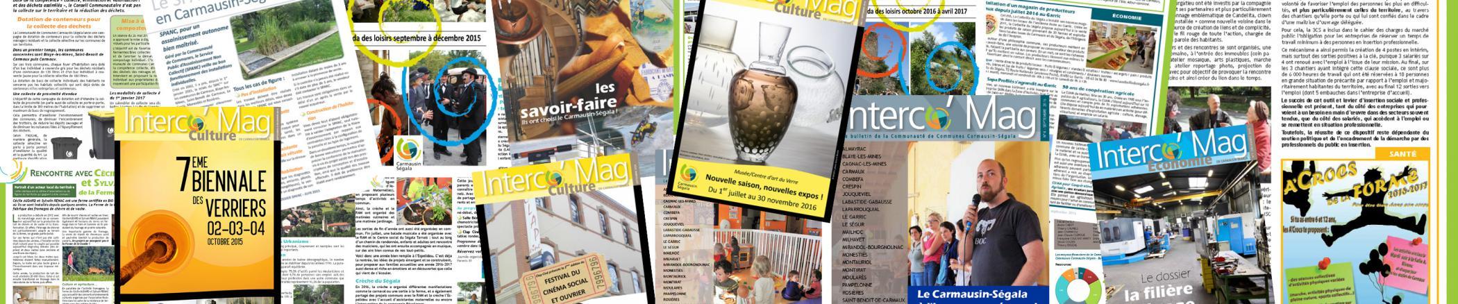 Interco'Mag, toutes les publications de la Communauté de Communes